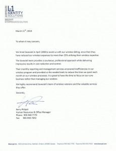 Letter Saveutel Recommendation - Bioscrypt Inc
