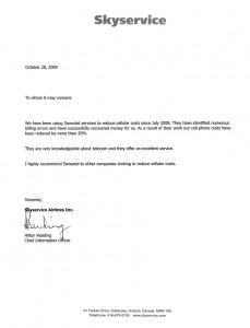 Letter Saveutel Recommendation - SkyService