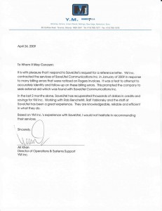 Letter Saveutel Recommendation - YM Inc.